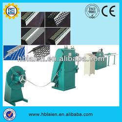 Corner beads machine for the perforation of finishing PVC corner bead 24 mm x 24 mm