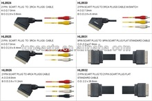 Scart cable 21pin to 3RCA CABLE