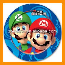 Super Mario Bros Wii Party Disposable Paper Plates