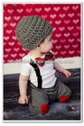 Boys Clothing Sets Bow Tie T Shirt & Pants Trousers Child Clothes 5sets/lot LT43063
