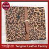 Book style leather case personalized design leopard case for ipad mini