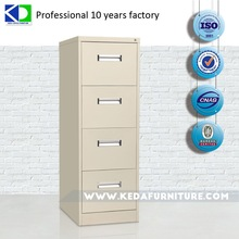 Compact Vertical 4 Drawers Storage Cabinet For Hotel