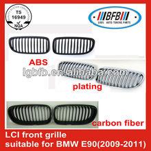 CARBON FIBER FRONT GRILLE FOR BMW E90/CAR CHROME FRONT GRILLE/ABS FRONT GRILLE
