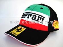 Wholesale Custom ad racing team fan Cap,Adjustable Cotton Sun 6 Panel baseball Hat(YC-BN058)