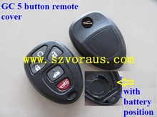 GMC key 5 button remote cover (no battery position)