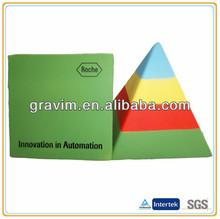 colorful pyramid sharp bulk stress ball