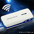 Mejor bolsillo 3g router inalámbrico 5.8 ghz con banco móvil 5200 mah