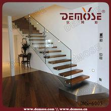 Foshan galleggiante nascosta Stringer stairs| fai da te galleggiante stairs| vetro ringhiera scala in legno