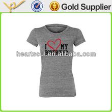 Cheap fashion gray color story girls tshirt