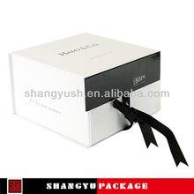 metallic luxury folding paper gift box made in shanghai