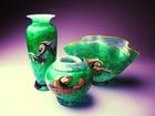 Antique Murano Glass Vase Set