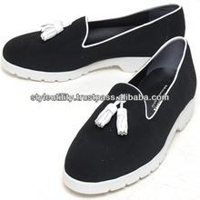 sdd0602 black suede fringe loafer made in korea