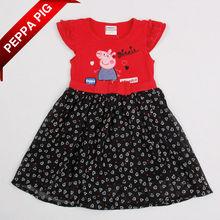 ฤดูร้อนแบ7267แฟชั่นเสื้อผ้าเด็กทารกสวมเสื้อผ้าเด็กผู้หญิงชุดเจ้าหญิงpeppaหมู
