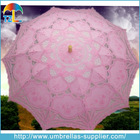 Fancy White Lace Wedding Fabric Parasol Umbrella