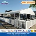 15x20m casa tenda em forma de tendas com parede de vidro