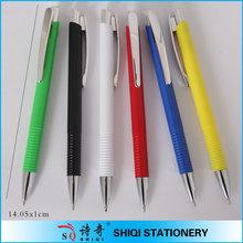 stationary supply retractable metal clip ballpens