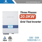 outdoor grid tied inverter, 2 MPPT, 3 phase 20kw dc ac inverter circuit