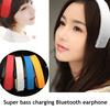 head wearing bluetooth headset
