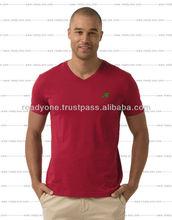 Custom new fashion comfortable casual stripe cotton loose cheap plain tshirt men 2014