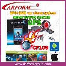 gps navigation car alarm gsm with smart remote engine starter