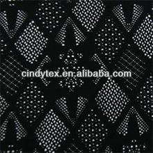 silk/nylon soft black lace fabric
