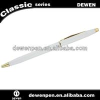 Logo metal white ballpoint pen,cheap ballpoint pen for promotional gift