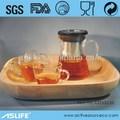 Modificado para requisitos particulares availiable! Conjunto de tres a prueba de calor del vidrio tetera silba conjuntos