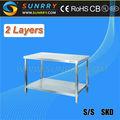 In acciaio inox tavolo di lavoro con undershelf/carrelli da cucina/tavolo da cucina compatto(Sy- wt812s sunrry)