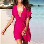 Free shipping,Deep V Neck Seductive Female One-piece Dress