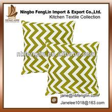 100%Cotton Village Green Chevron Striped Accent Decorative Throw Pillow Cushions Fashion Pillowcase Popular Cushion Cover