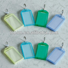 Square Shape Plastic key chain blank