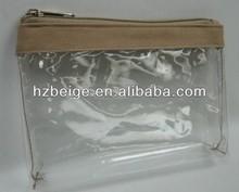 OEM purses and handbag transparent pvc cosmetic bag and zipper make up bag