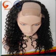 Premium top quality u shape human hair lace front wig