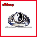 Hombres de plata de ley Ying Yang - de la luna de Sun anillo