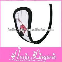Black trim sex hot sale design c-string panties