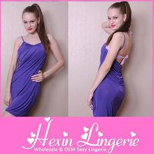 Summer stylish new designed in stock purple beach wrap dress(12 colours)