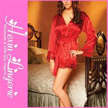 Red babydoll women sexy nightwear lingerie