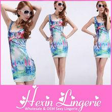 Cute cat wholesale galaxy diy summer dress