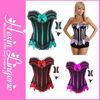 Wholesale various color sexy busty corset lingerie