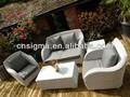 2014 de lujo de estilo al aire libre del patio de mimbre muebles de jardín sofá de suite de jinhua muebles de jardín de los proveedores