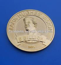 Abrasive Blasting Metal Gold featured challenge coin(BT-AM-Challenge Coin-14124-145)