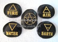 Black Obsidian 5 element Set fine carved : Wholesale reiki sets : Pagan wiccan set wholesaler : india gemstone Wholesaler