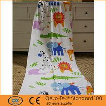High quality popular printed cartoon tiger print curtains