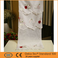 Apple design pattern café, brodé rideaux de la cuisine fabriqués en chine