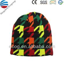 100% acrylic new fashion animal knit hat weave weave knit hat
