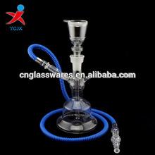 han blown pyrex borosilicate clear glass hookahs wholesale
