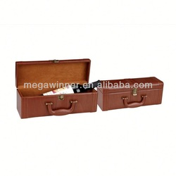 Vintage Leather Wine Carrier for Packaging
