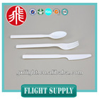 FS flight use Disposable high quality Smooth edges kids plastic cutlery set