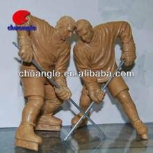 Hockey player clay sculpture, sport sculpture