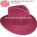 que hace perfecto de los hombres de color rojo de fieltro de lana sombrero de la iglesia